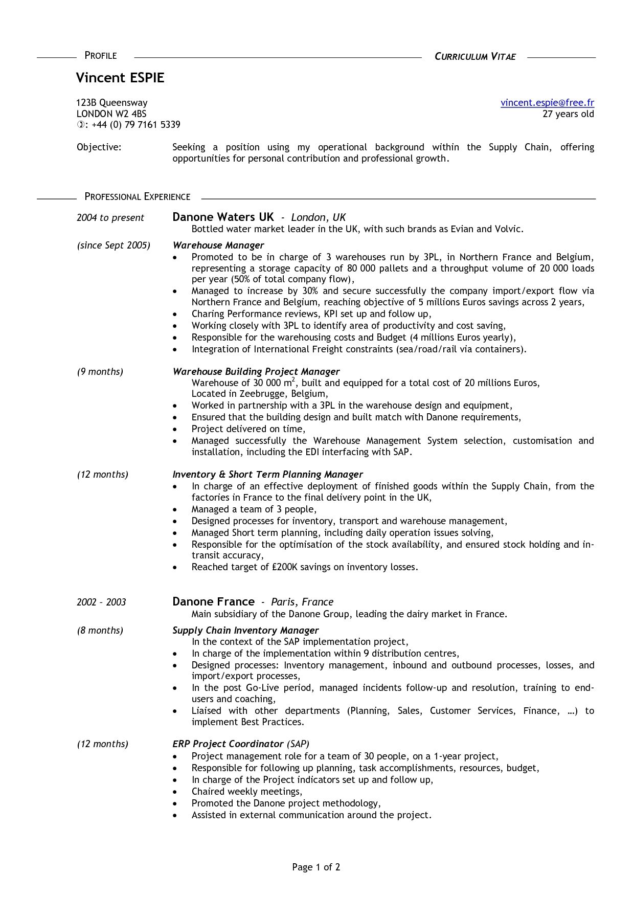 Resume Templates For 50 Year Olds
