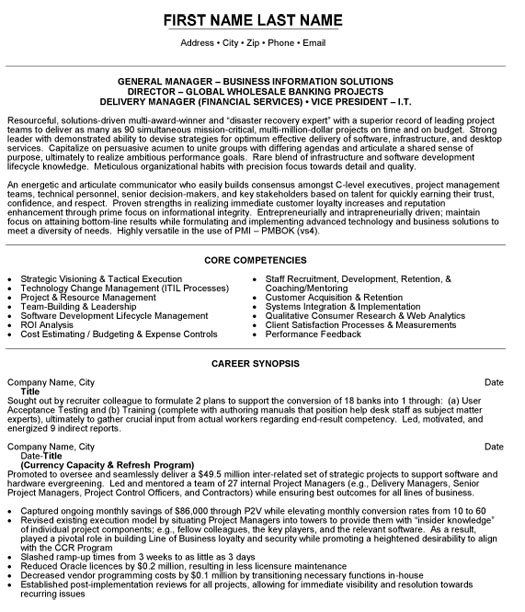 Resume Examples Banking