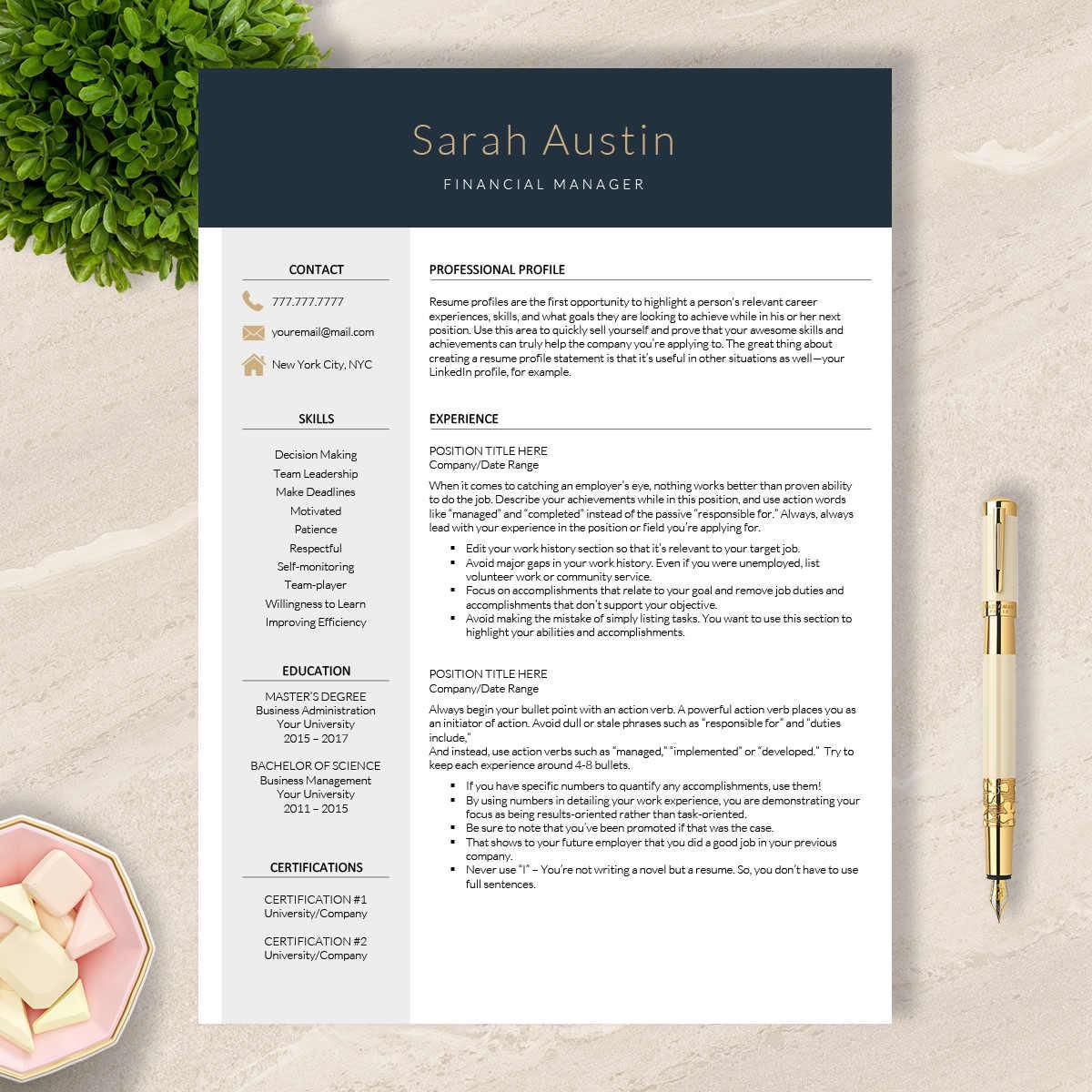 Resume Templates On Pages