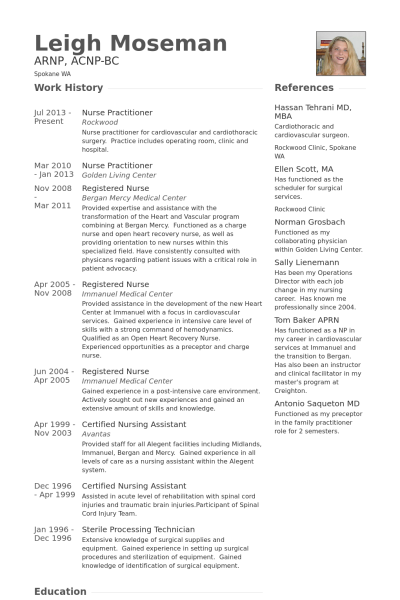 Resume Templates Nurse Practitioner Resume Templates