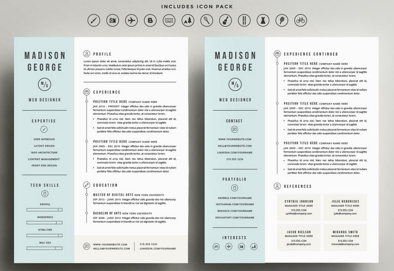 Resume Templates 2 Pages