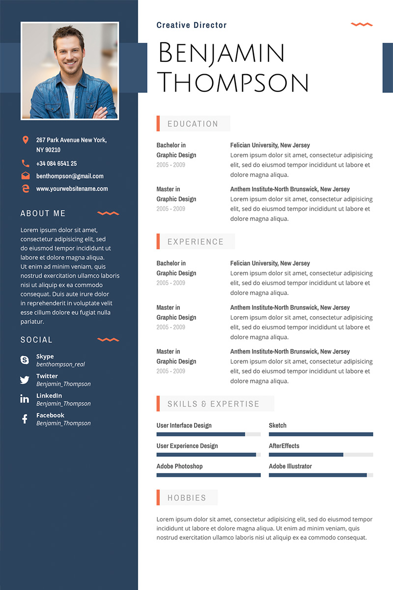 Resume Templates Illustrator