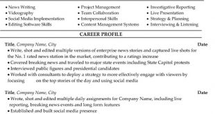 Resume Templates Journalism