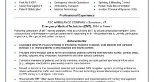 Emt B Resume Examples