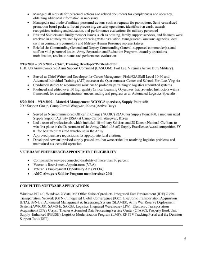 92A Resume Examples