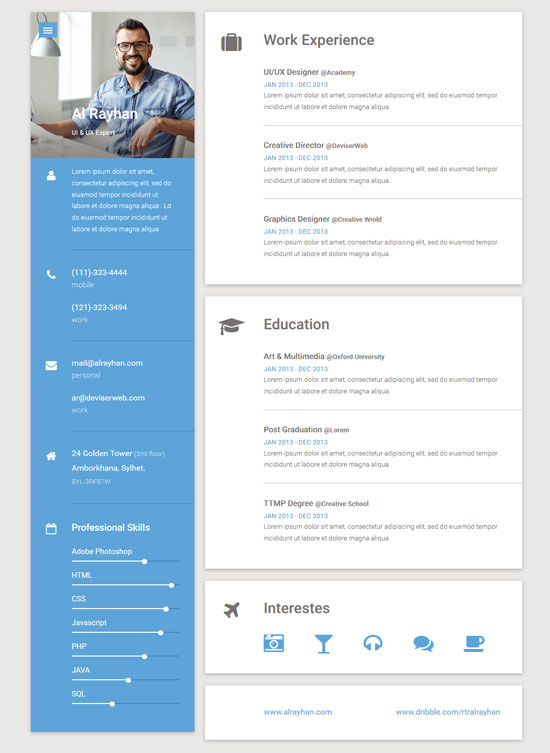 Resume Templates Website