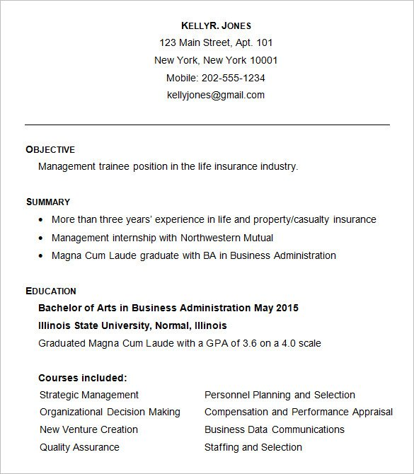 Resume Examples Business