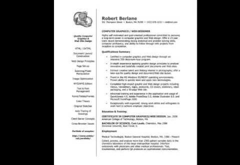 Resume Examples Youtube