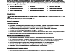 Resume 101 Examples