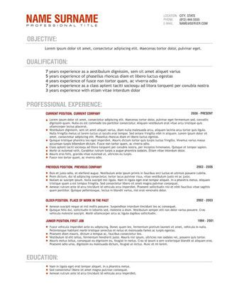 Resume Templates Qld