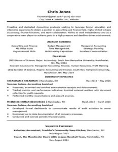 Resume Examples Printable