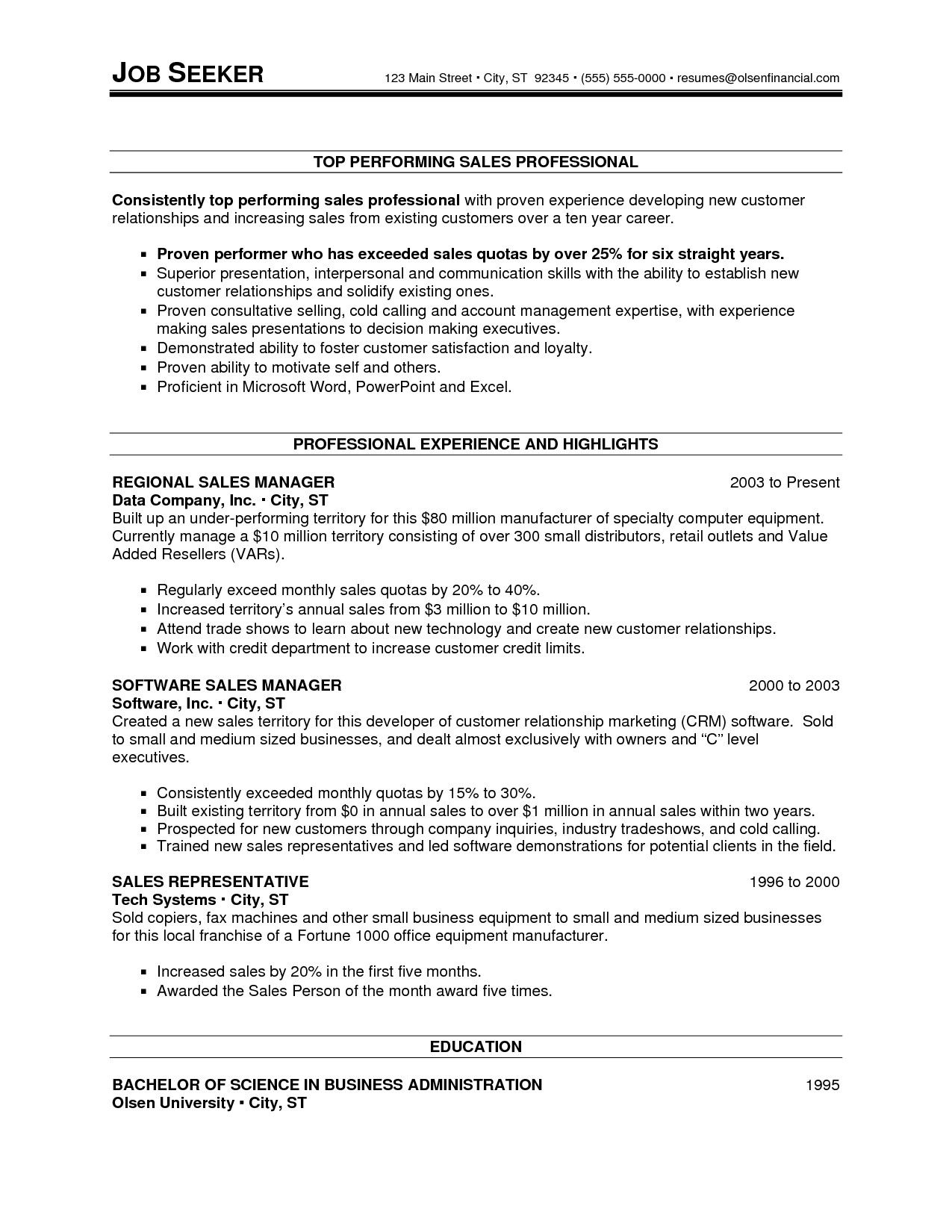 Resume Templates For 30 Years Experience