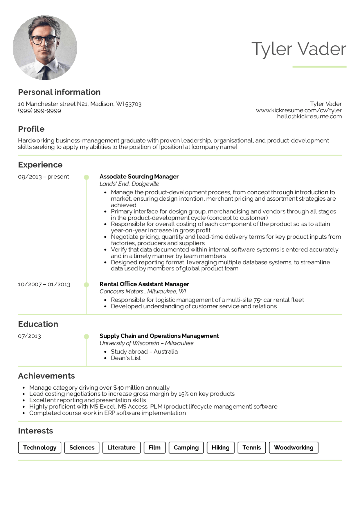 Resume Examples Management