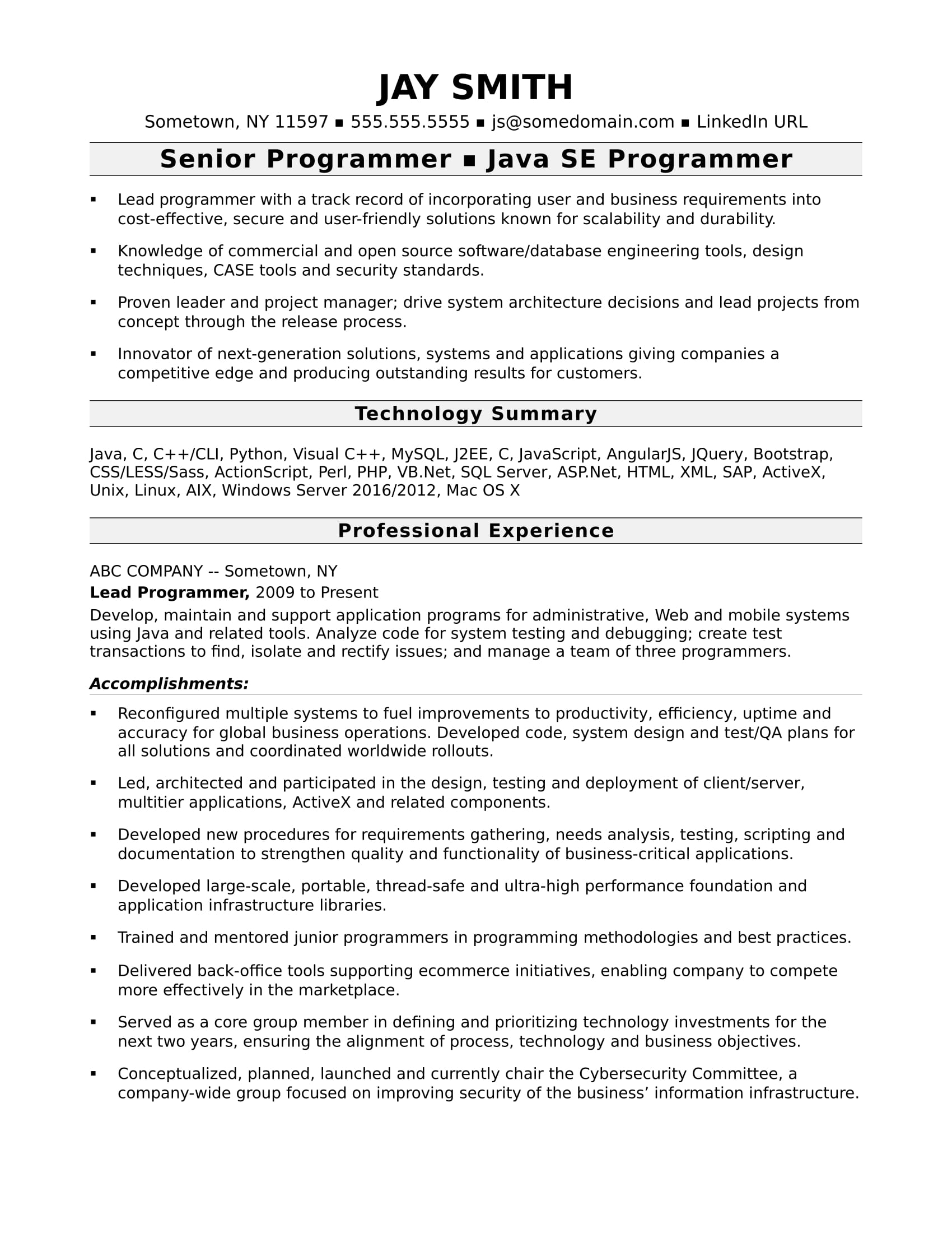 Resume Format Requirements Resume Templates