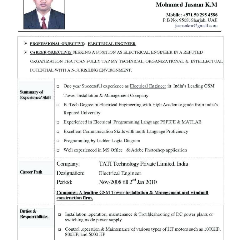 2 Years Resume Format