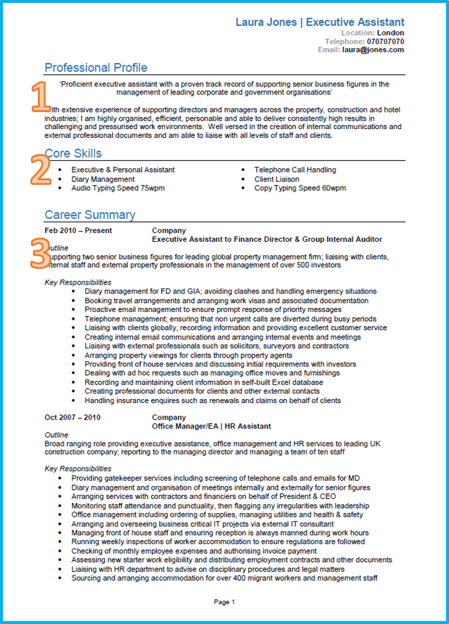 A Good Resume Examples