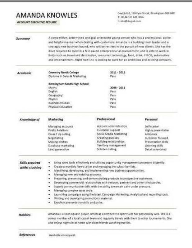 Resume Format Libreoffice