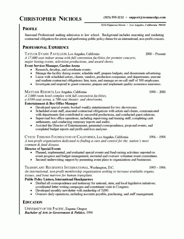 Resume Format Bullet Points