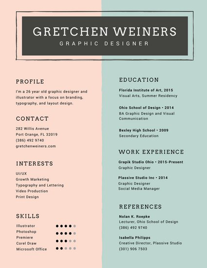 Resume Templates Design