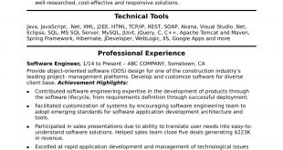 Resume Examples Software Engineer