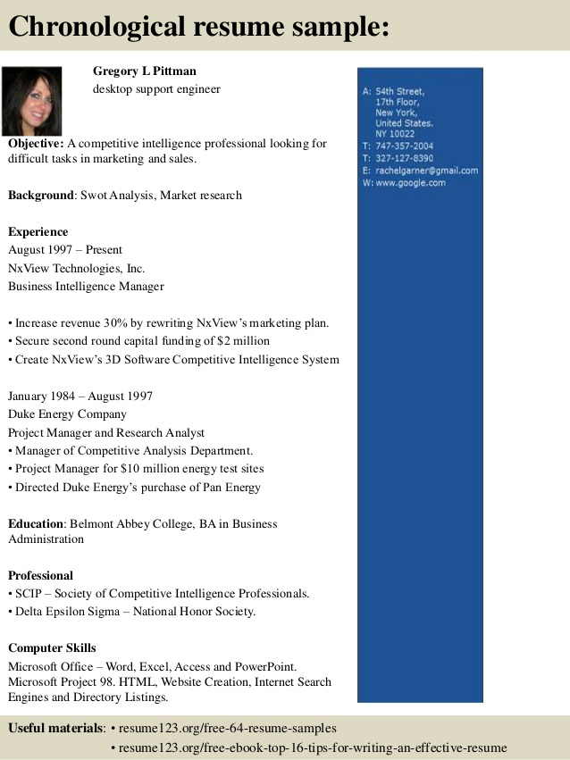 Resume Format 8 Year Experience
