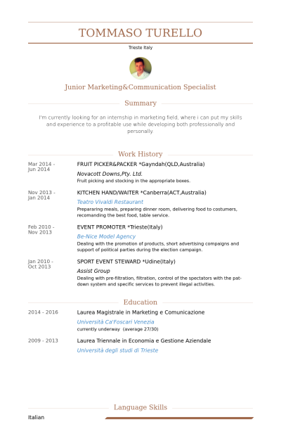 Resume Examples Qld