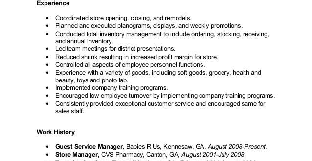 Toys R Us Resume Examples