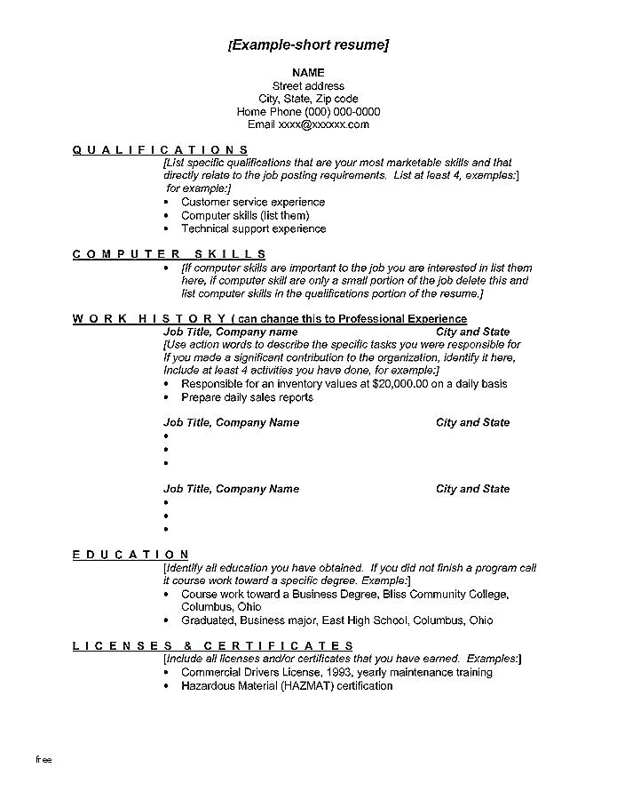 Resume Templates Job Change