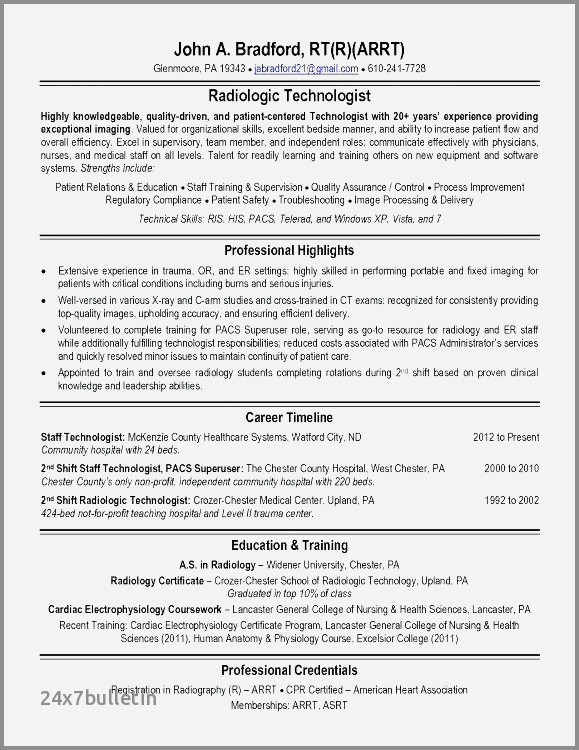 X Ray Tech Resume Examples Inspirational Music Example