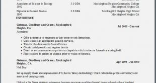 Resume Templates Education First