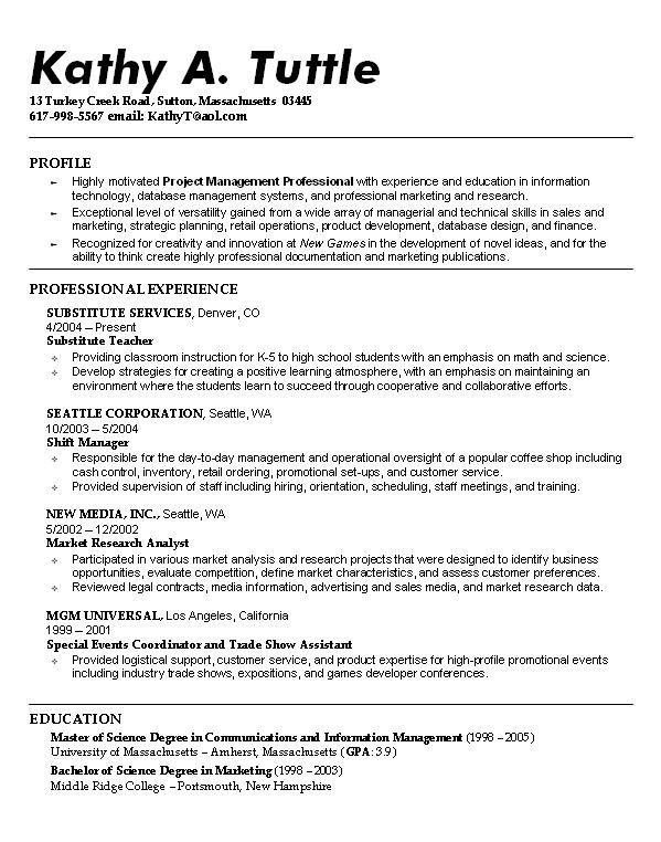 Resume Examples Student