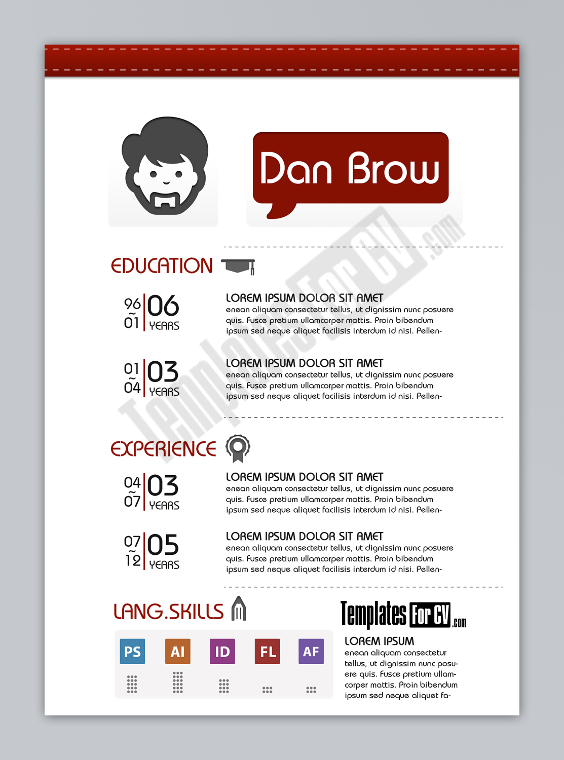 Resume Format Graphic Designer