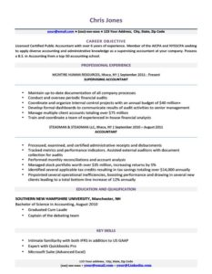 Resume Examples Printable - Resume Templates