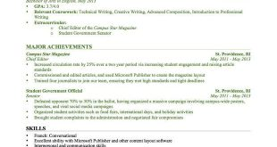 Resume Templates No Education