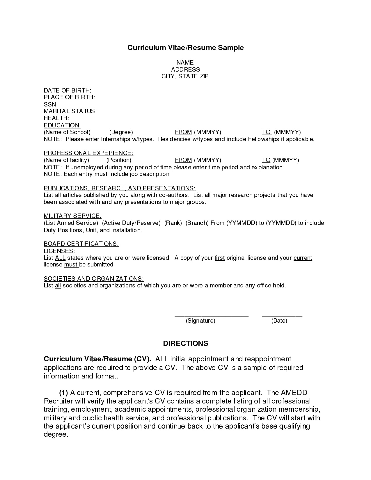 Resume Format After First Job