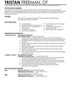 Resume Templates Healthcare