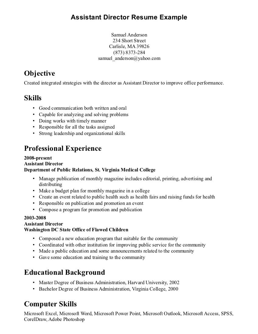Resume Examples Skills