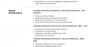 Resume Examples 2017 Skills