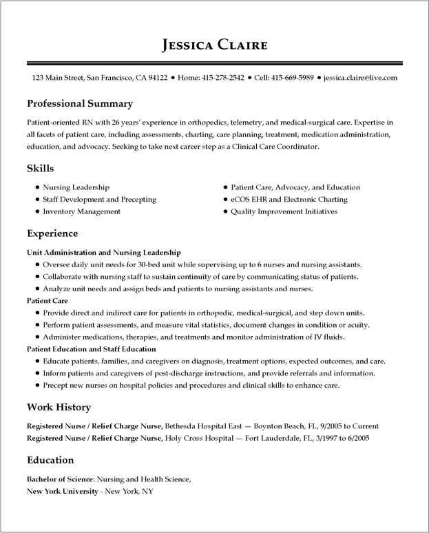 Resume Of Format