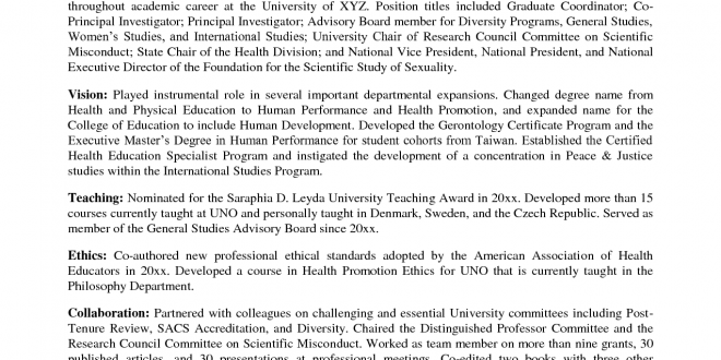 Resume Format For Zoology Lecturer