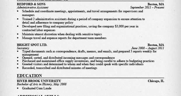 Resume Examples Office Assistant