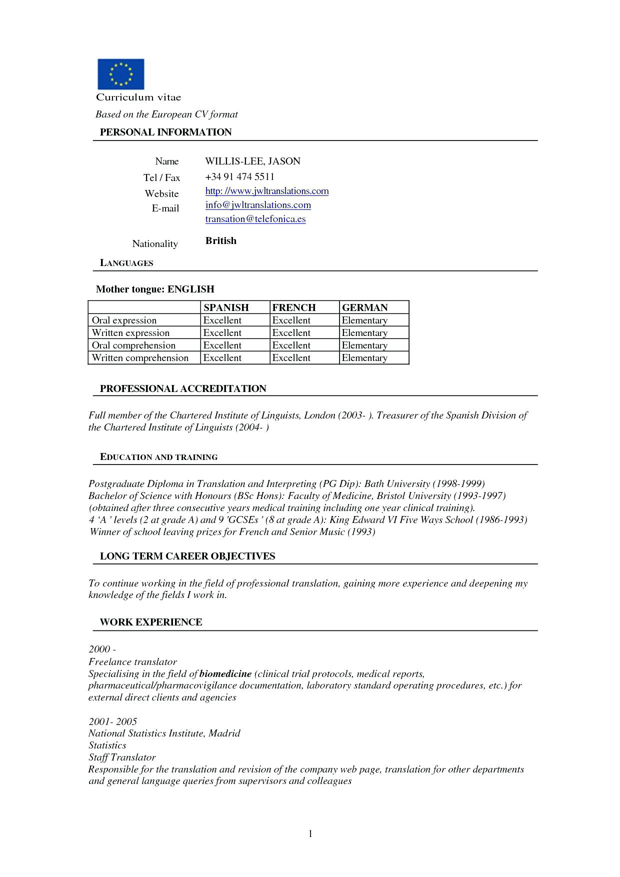 B Pharmacy Resume Format For Freshers
