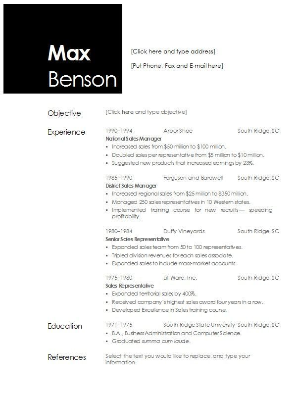 Resume Templates For Openoffice 4