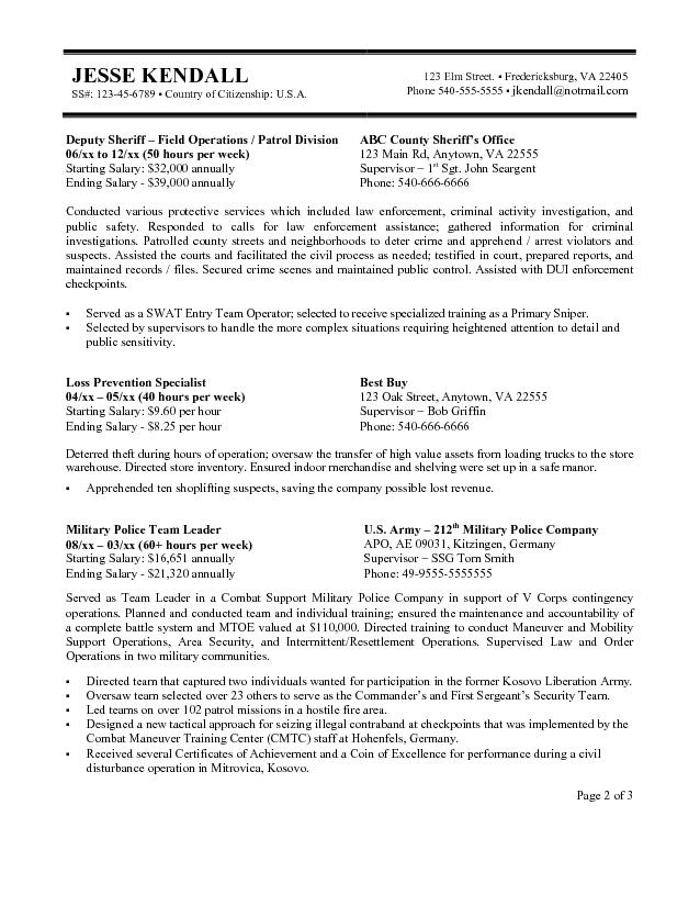 Resume Templates Usa Jobs