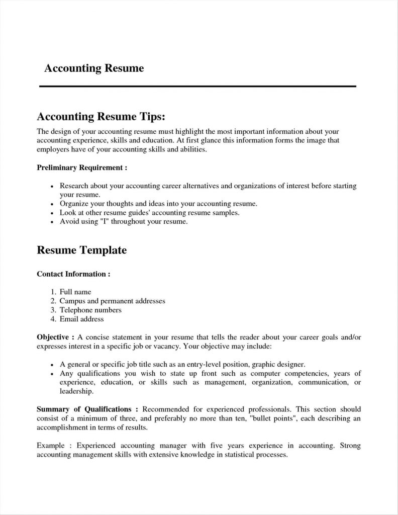 3 Years Resume Format