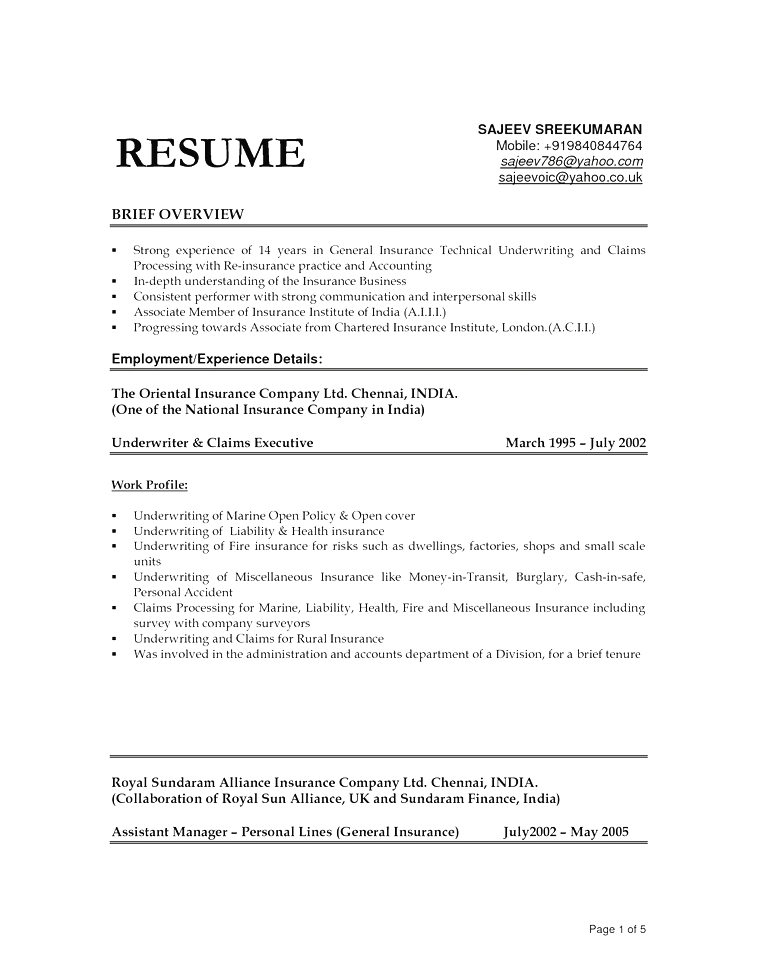 Resume Templates For Kitchen Helper
