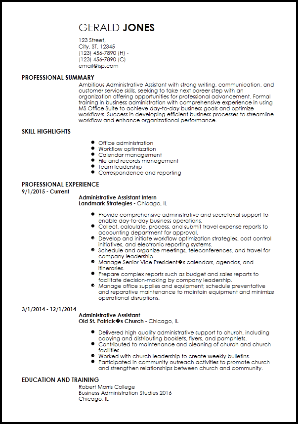 Resume Templates Beginner  Resume Templates
