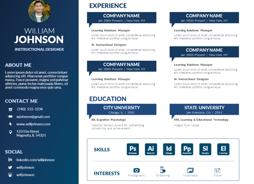 Resume Templates Visual