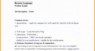 Resume Format Spacing
