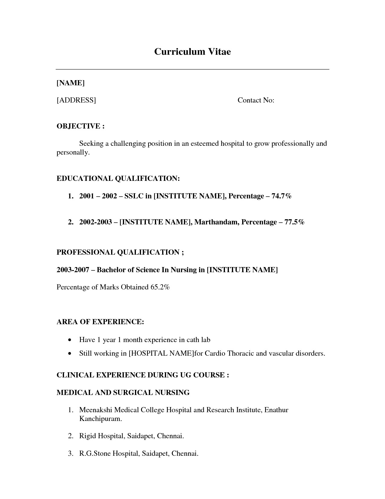 Resume Examples Little Work Experience